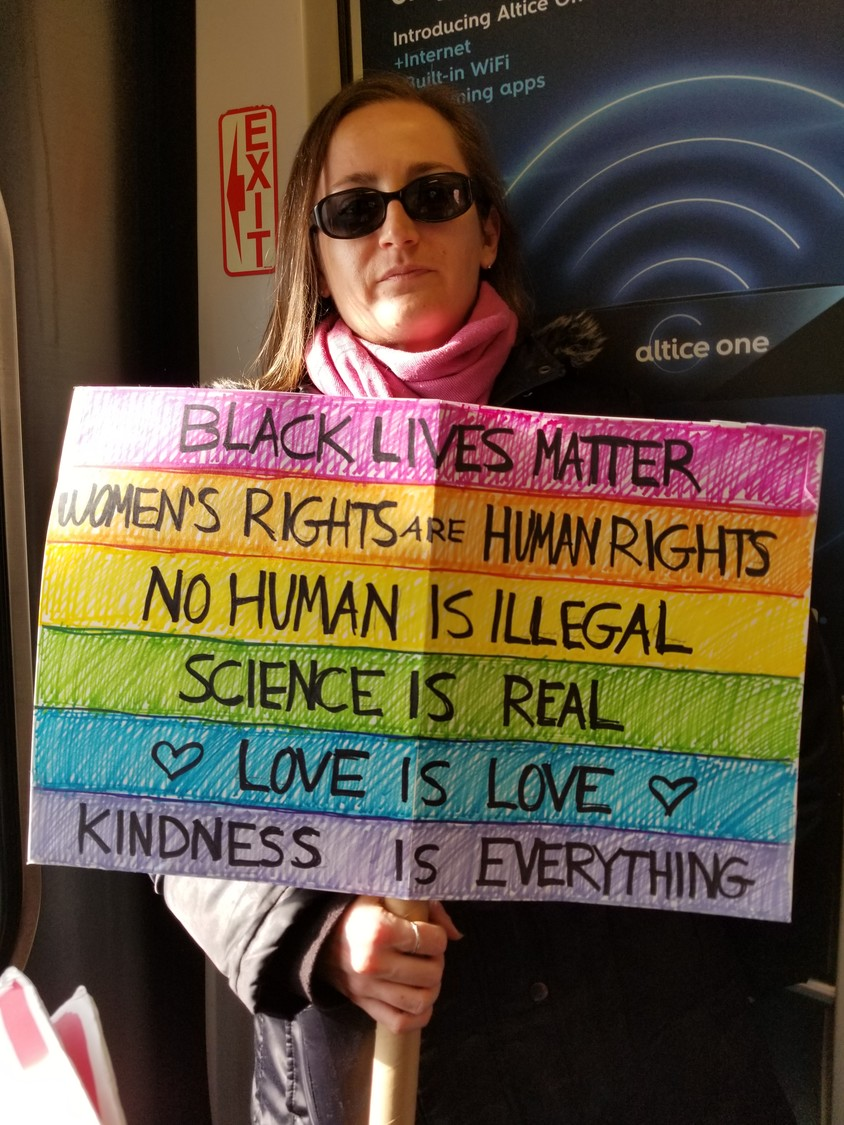Erica Klein-Meisenhelter was among the attendees at the Women's March.