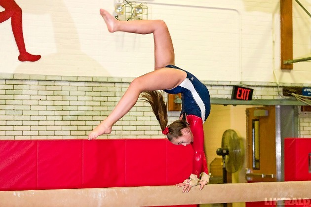 Eighth-grader Payton Waller won the All-Around with a score of 33.25 on Jan. 9 to lead the Lady Cyclones to a 158.55-148.65 victory over Wantagh.
