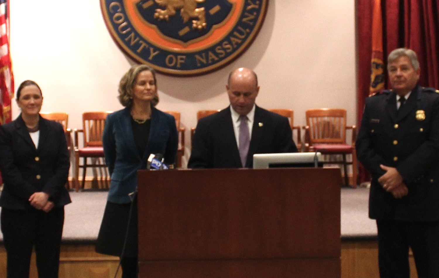 Nassau County Executive Laura Curran announced at Wednesday her decision to appoint Patrick Ryder, the acting commissioner of the Nassau County Police Department, as the department's permanent commissioner.
