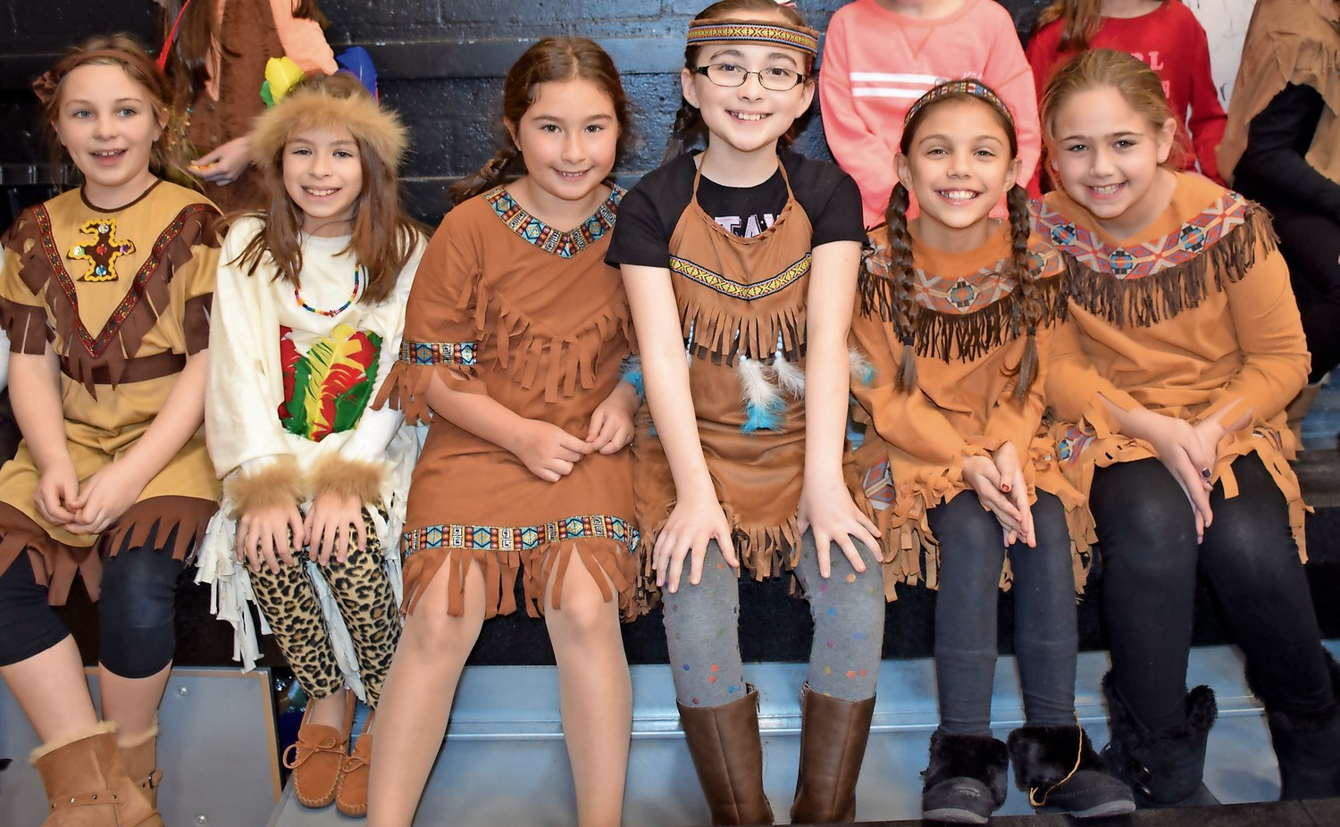 Dressed in traditional costumes, fourth-grade Forest Lake Elementary School students celebrated the school's Native American Day on Jan. 11.