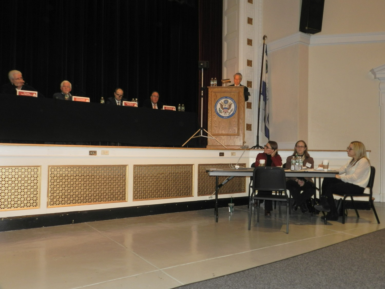 Local lawmakers discussed key issues affecting the North Shore schools, such as the tax cap, opt-out rates, and New York American Water.