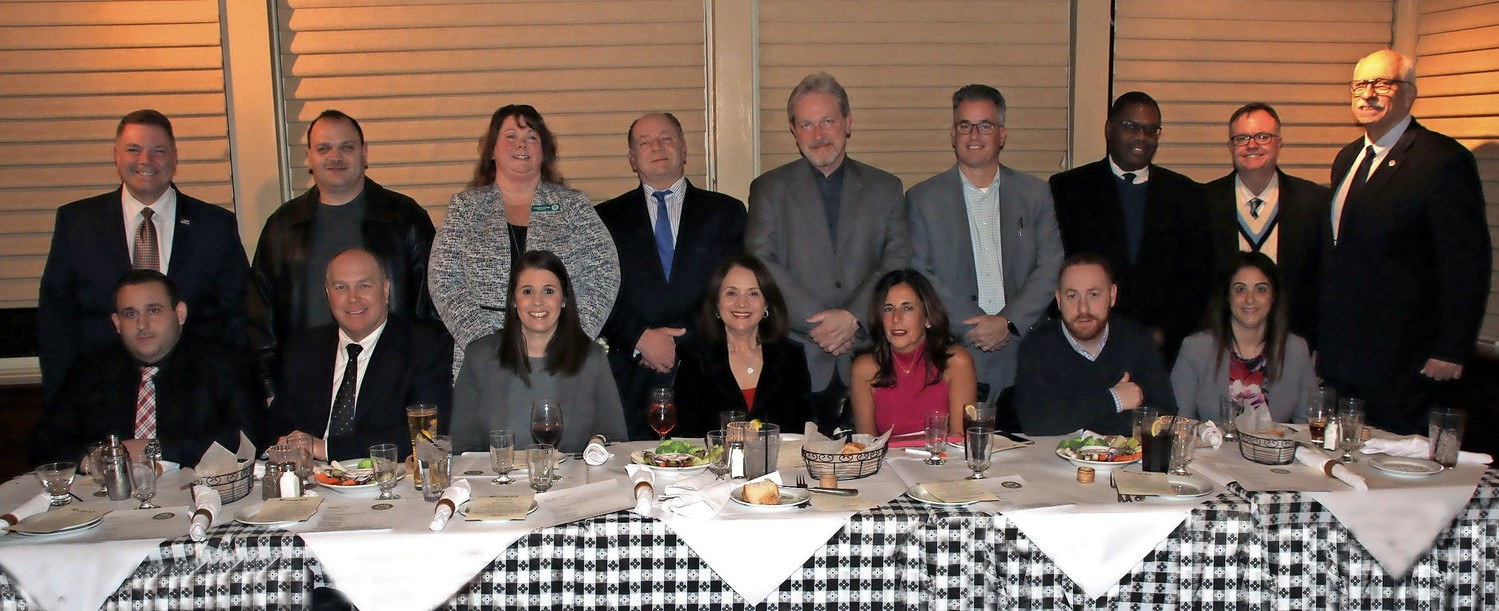 The Seaford Chamber of Commerce board and officers celebrated at the organization's installation dinner at Runyon's restaurant on Jan. 17.
