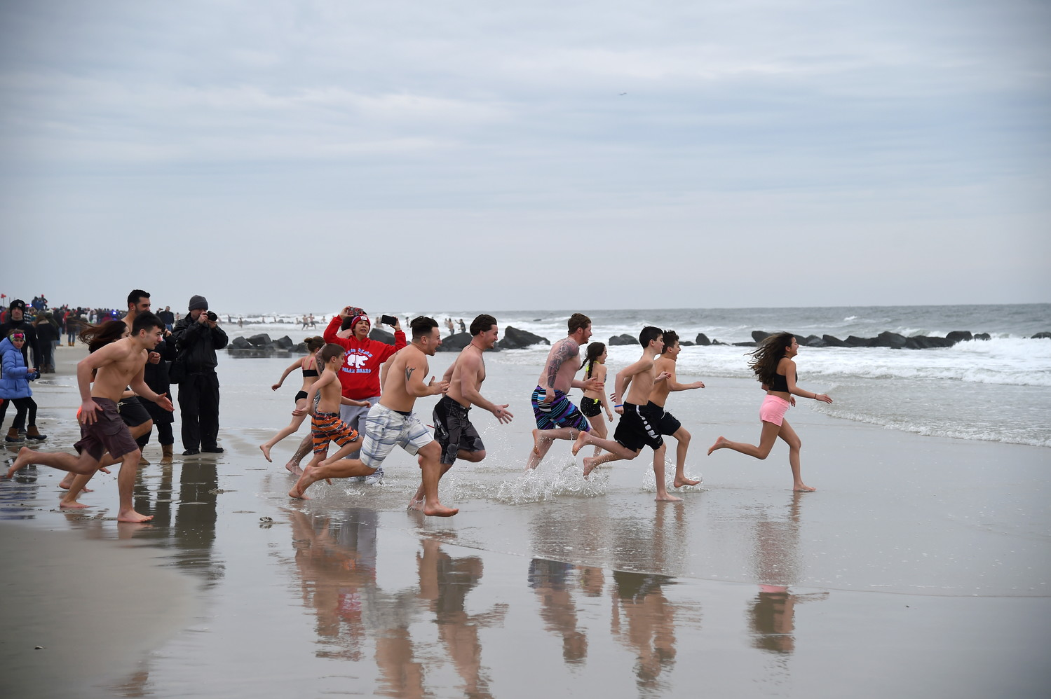 An icy Polar Plunge for locals raising cash for Special Olympics