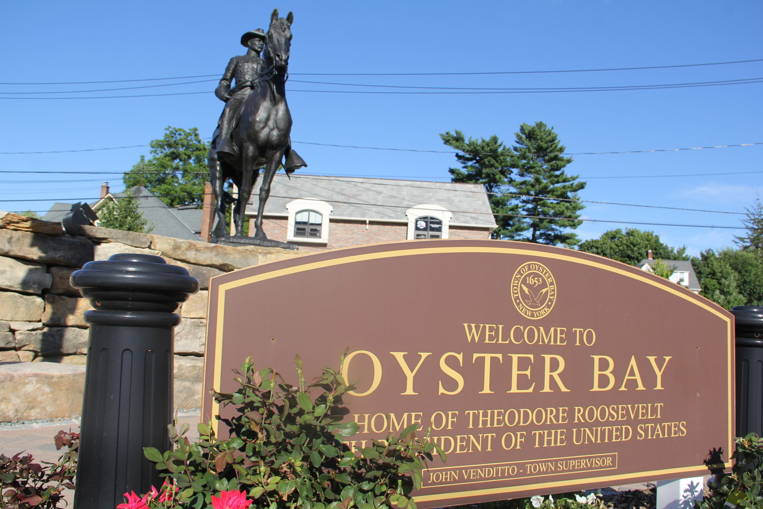 The Town of Oyster Ay was issud a temporary restraining order on Jan 12, in favor of Hartcorn Plumbing and Heating Inc.