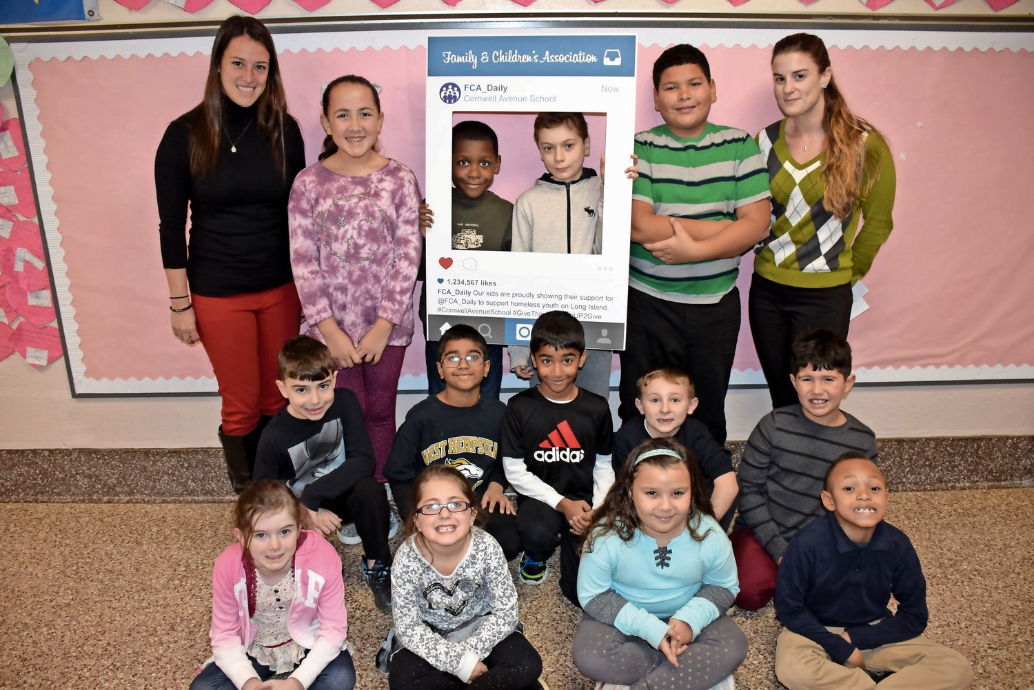 Students in every grade at Cornwell Avenue Elementary School took part in the campaign.