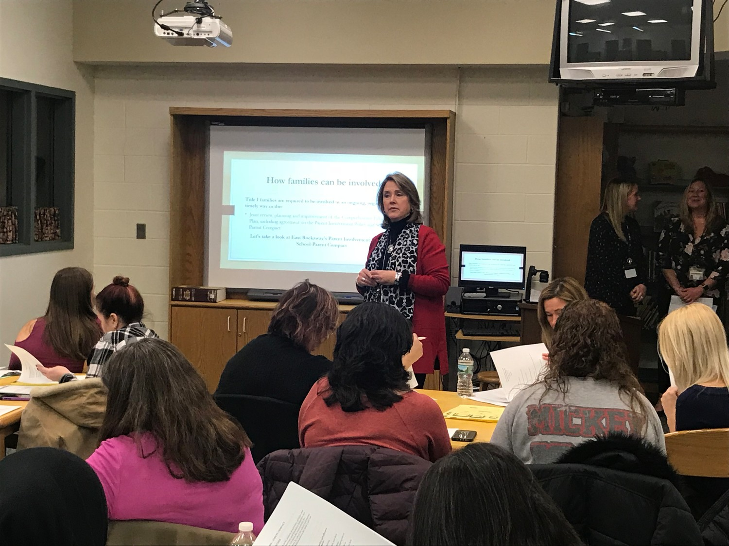 Mona Hecht, East Rockaway's assistant superintendent of curriculum and instruction, explained that under the Title 1 Program, the district receives federal funds to provide support for students.