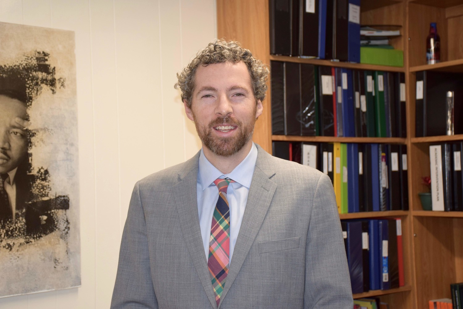 Elmont Memorial High School Principal Kevin Dougherty.
