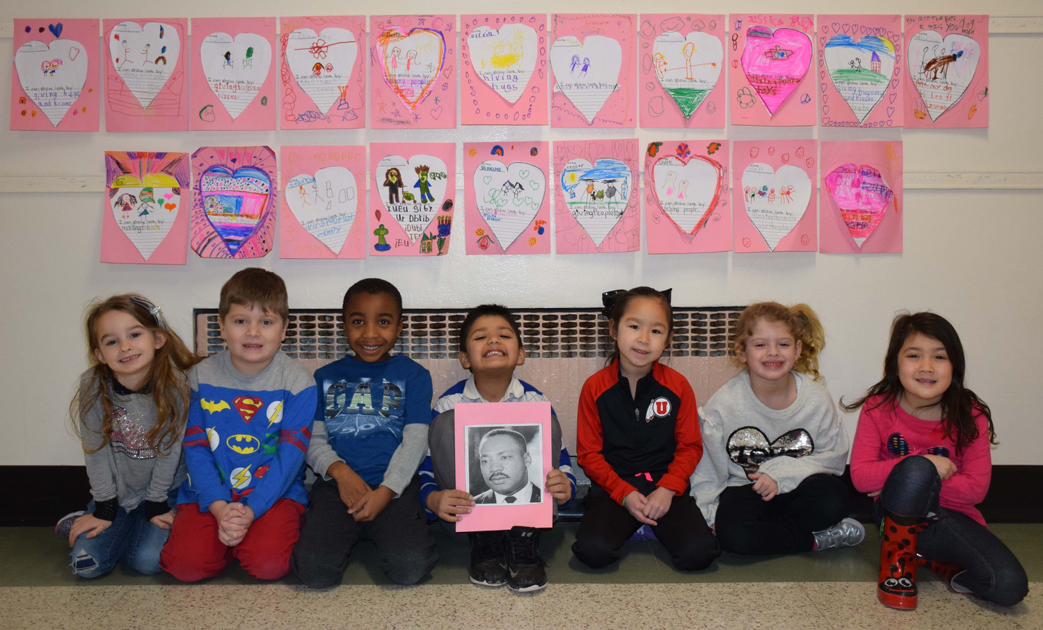 Dinkelmeyer kindergartners wrote about ways they could spread love.