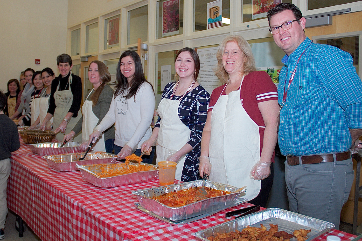 Glen Head School's faculty served up a feast of food for game night.