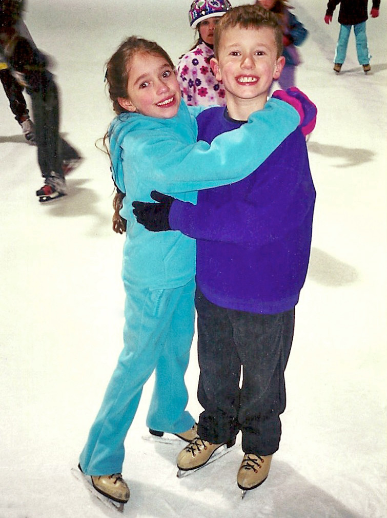 Danielle and Alex Gamelin got their start ice dancing in training programs at the Newbridge Arena in Bellmore in 2000.