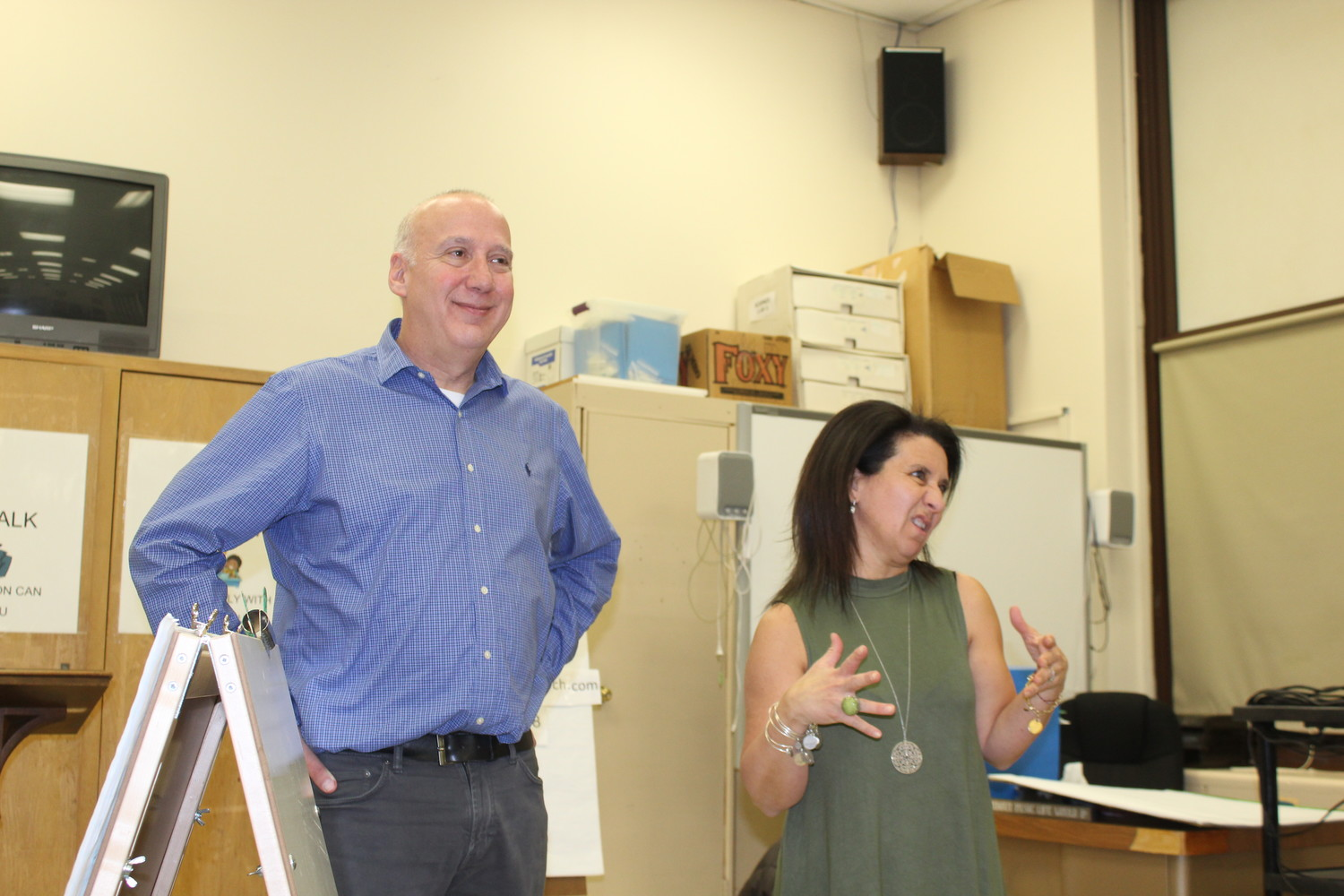 Bob Freier and Joann Kaplan, of District Wise Search Consultants, collected input from residents in District 24 on what they want in a new superintendent.