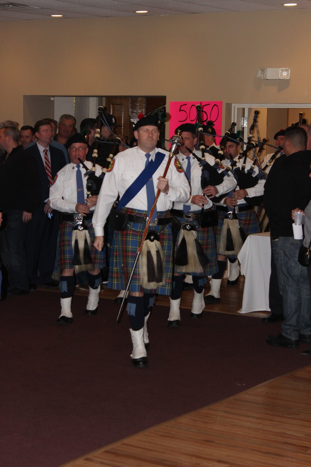 The Nassau County Police Department Pipes & Drums performed at the fundraiser.
