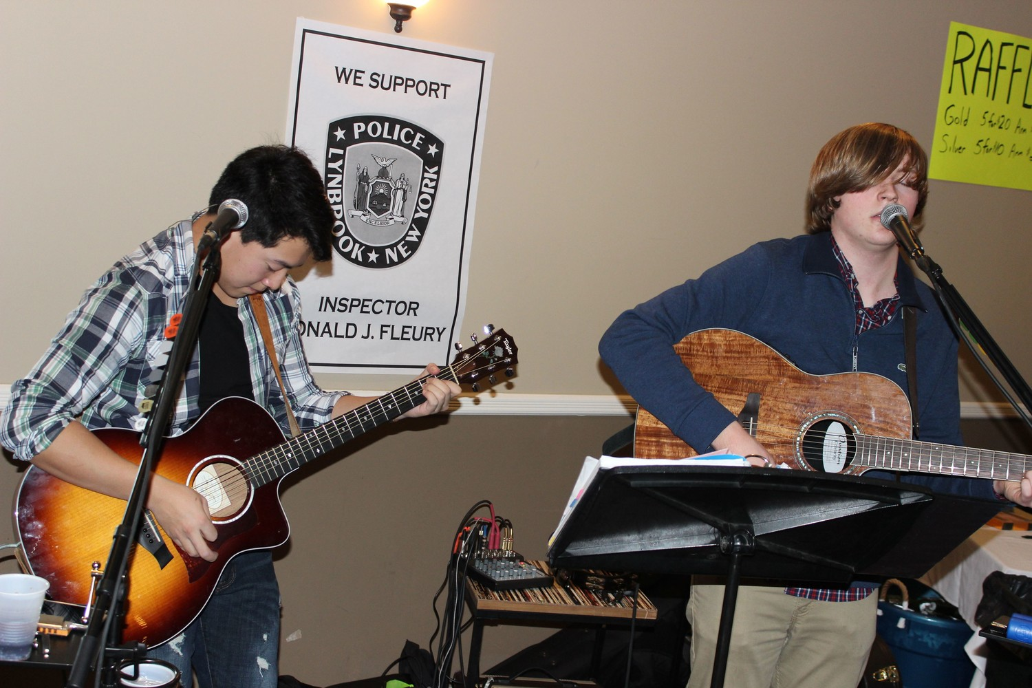 Local band Leaman Place showcased their talents at the event.
