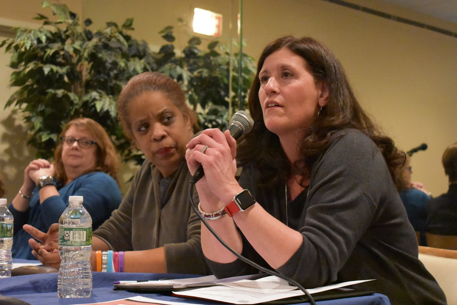 "Kathleen Baxley, Rockville Centre's deputy mayor, discussed how she has made a difference in the community during a ""Beyond #MeToo"" event hosted by Raising Voices at Central Synagogue-Beth Emeth on Jan. 31."