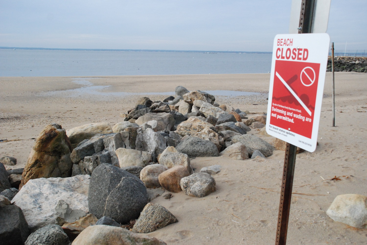 Crescent Beach has been closed to the public since 2009, after a county study found dangerously elevated levels of bacteria.