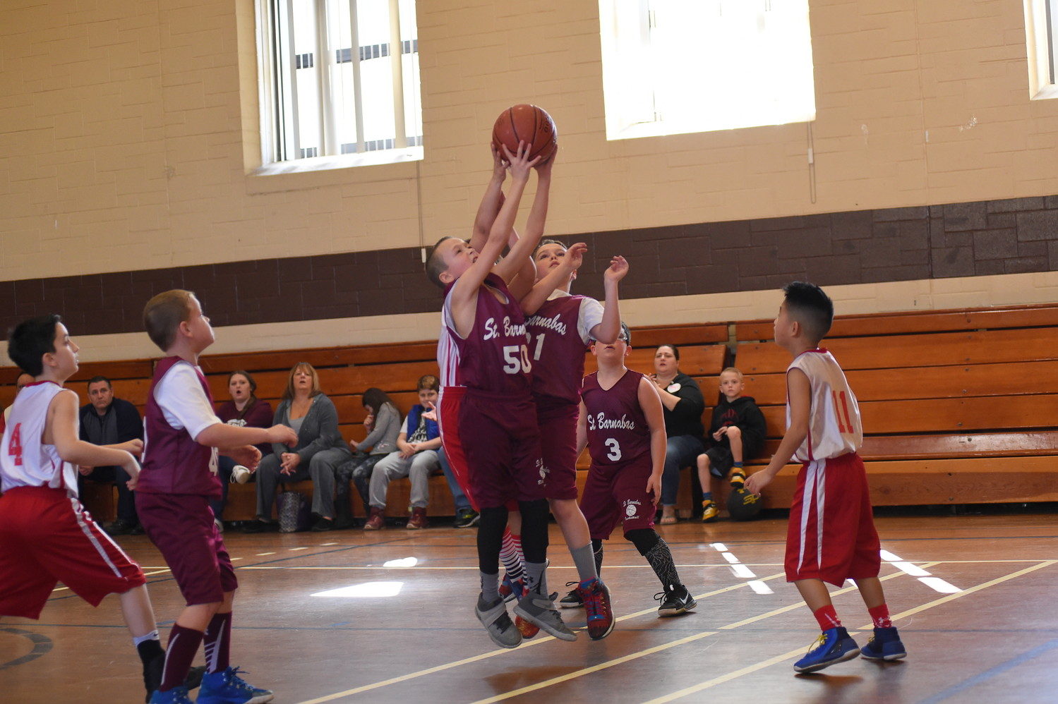 The fourth-grade teams from St. Barnabas the Apostle of Bellmore and St. Aloysius of Great Neck faced off on Feb. 25.