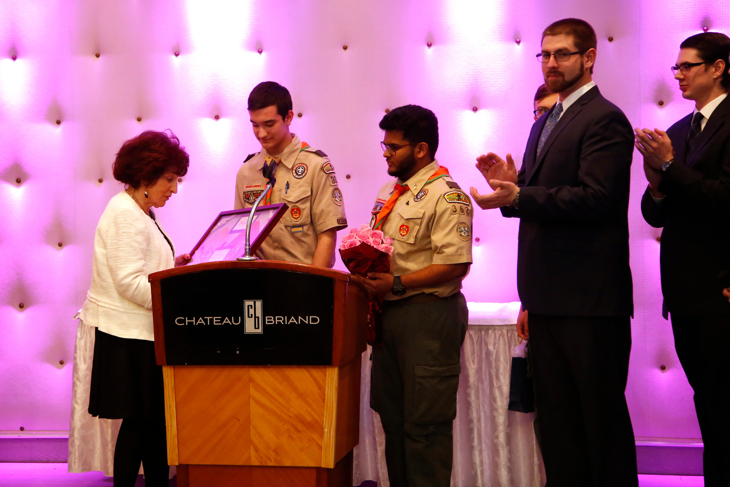 Gonsalves was honored by local cub scouts for her dedication to the community.