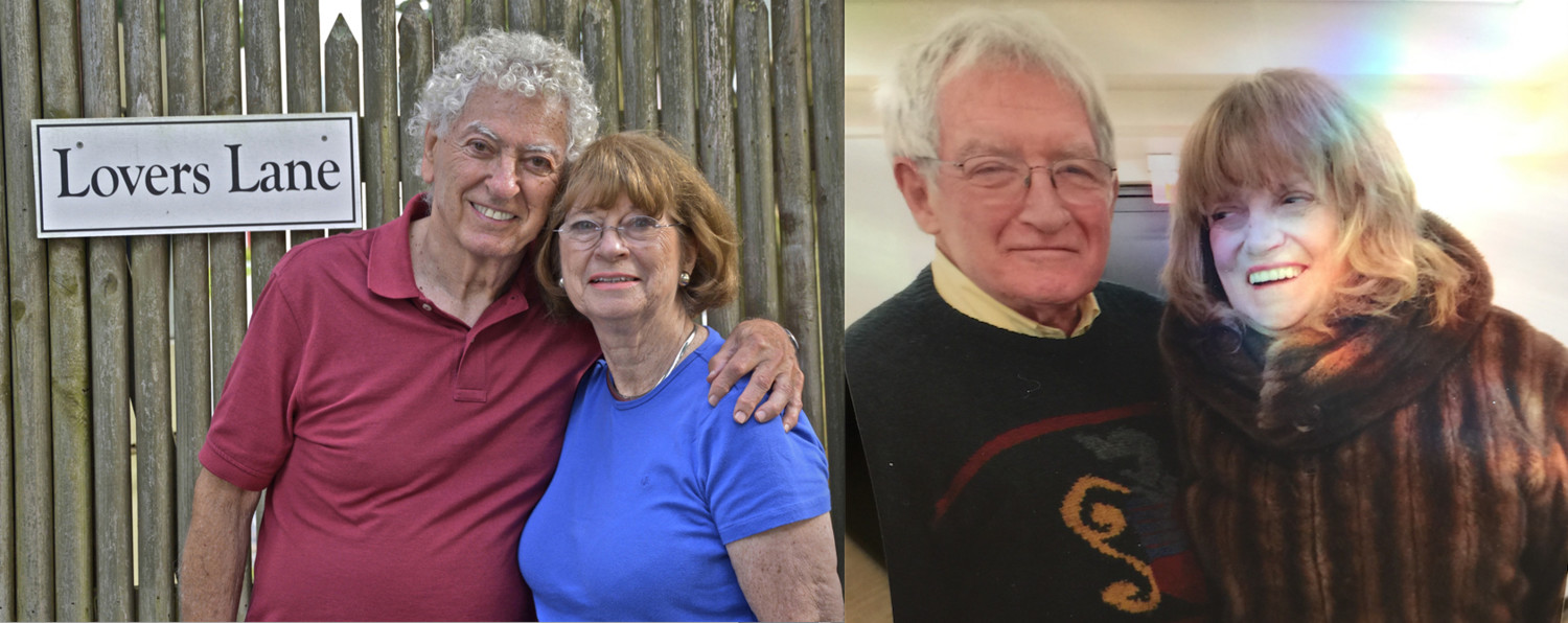Longtime married Woodmere residents Seymour and Irene Levy and Noah and Freya Fisch will celebrate Valentine's Day.