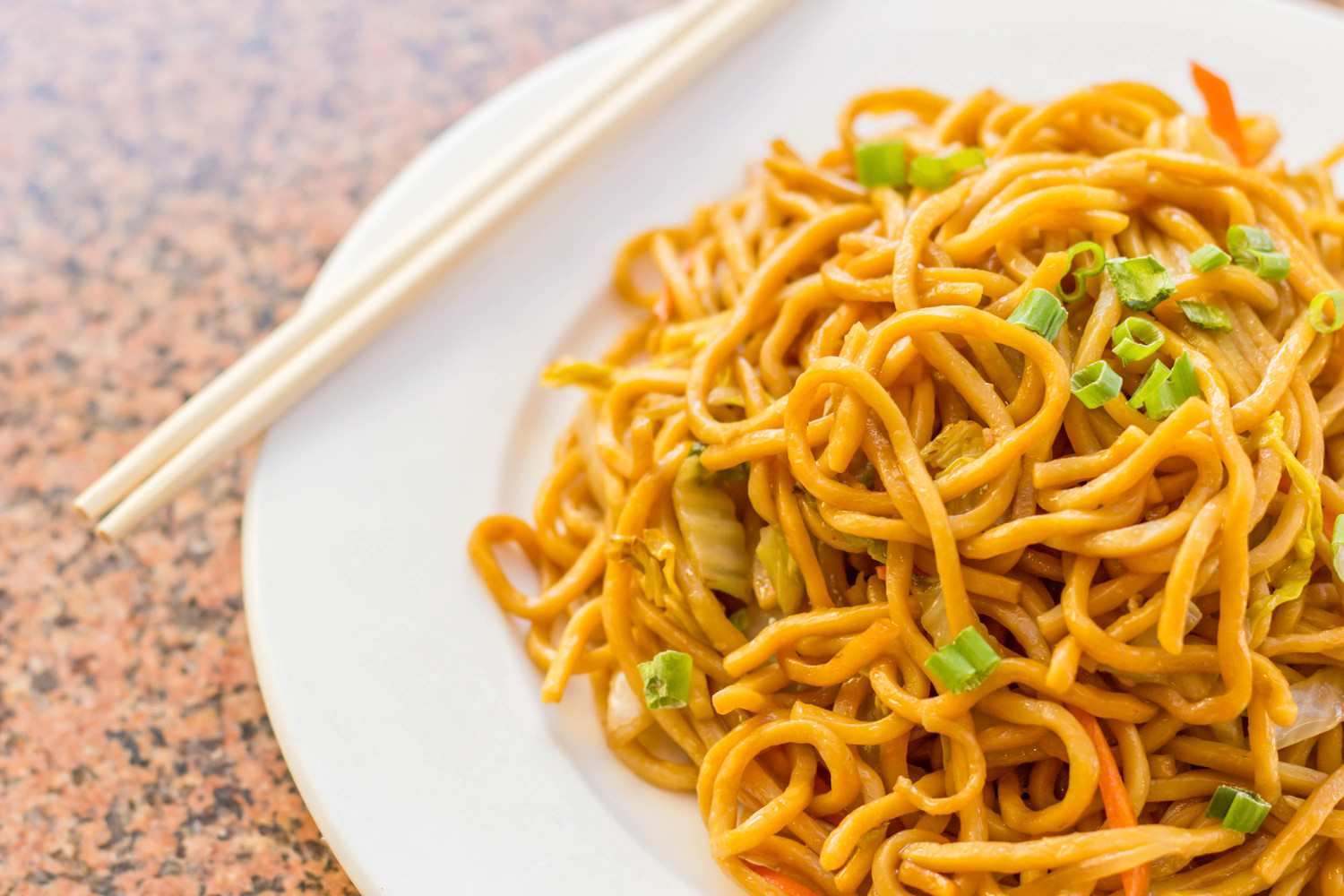 Noodles are a traditional food for Chinese New Year: their length symbolizes longevity.