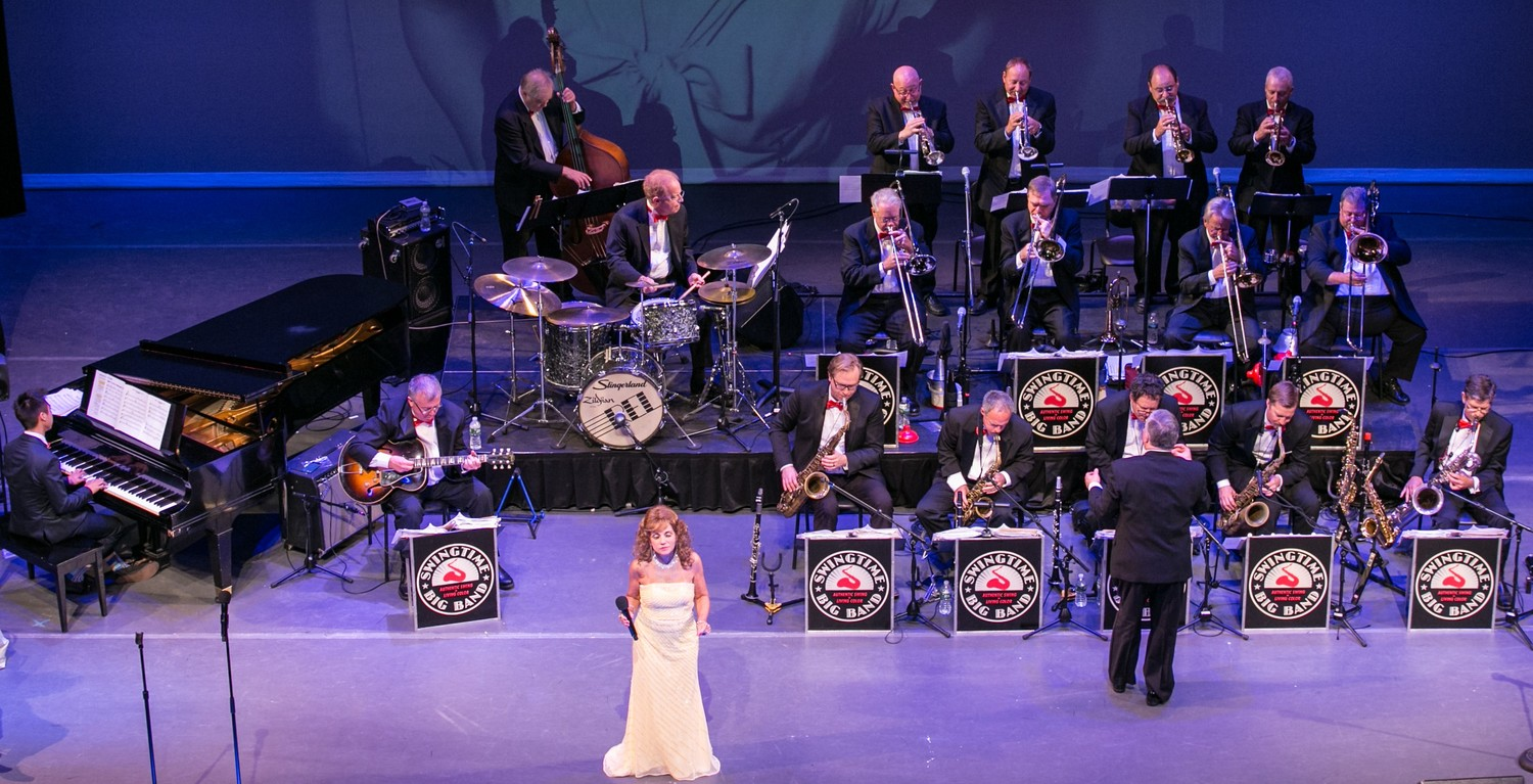 The popular Swingtime Big Band returns to the Madison Theatre, with a Valentine's Day-themed concert on Feb. 11.
