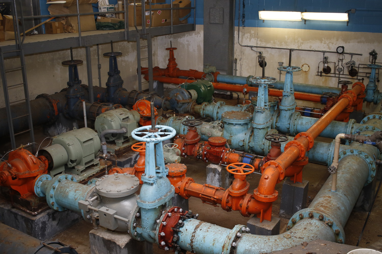 The many winding pipes and valves of Well 31.