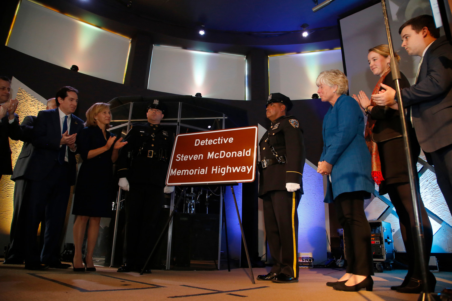 "On Friday, a portion of the Southern State Parkway was renamed ""Detective Steven McDonald Memorial Highway"" in honor of fallen NYPD Detective Steven McDonald."