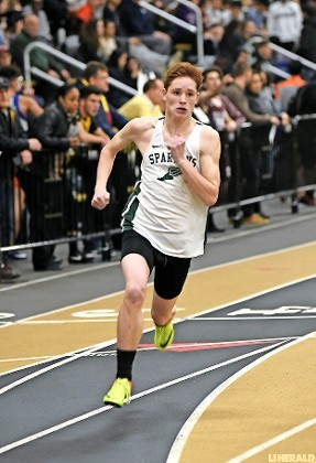 Junior Jacob Schoenfeld captured the 300 meter title to help the Spartans cruise to the Nassau Class B track and field championship on Feb. 7.