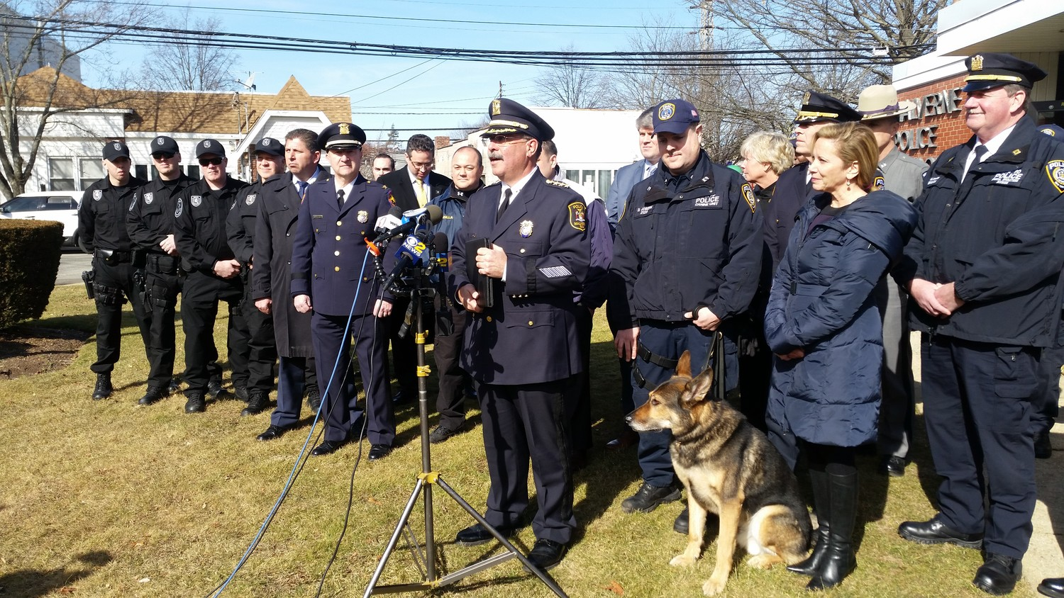 Malverne Police Department Chief John Aresta spoke at a news conference on Tuesday about the community-wide effort to find the missing teen.