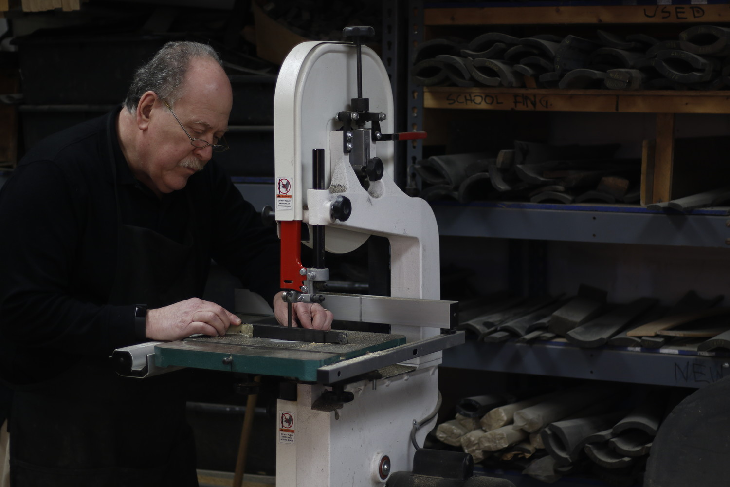 Handcrafting instruments has been a family tradition for 75 years at Kostein & Son in Baldwin. Barrie Kolstein takes pride in each instrument he creates or repairs.