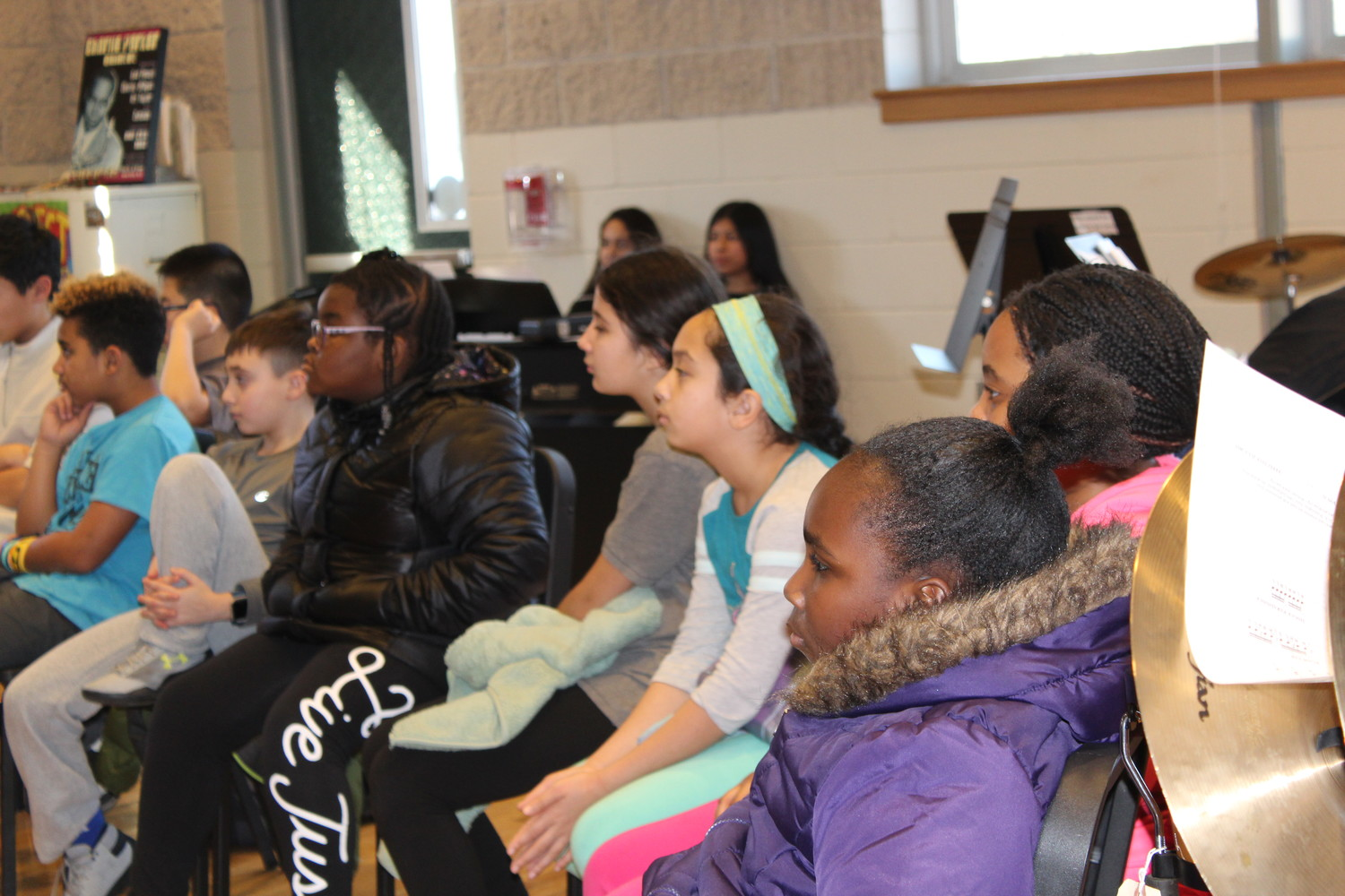 Nine students from the No Place for Hate Committee at West End Elementary School attended a discussion.