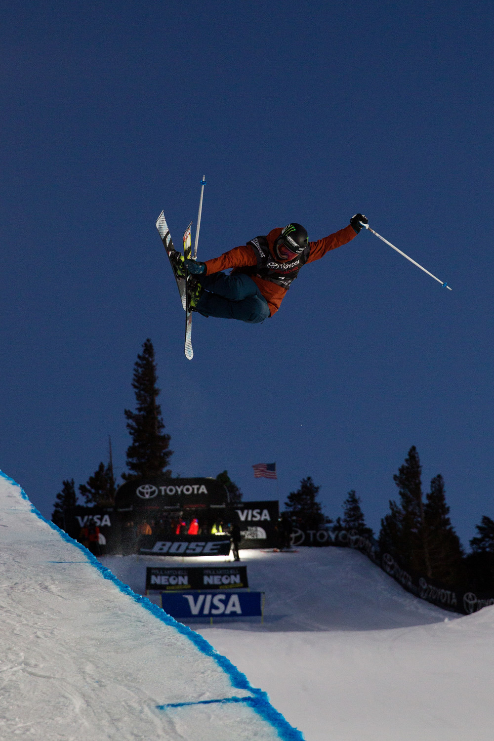 U.S. Olympic women's slopestyle skier Devin Logan caught some air last month at the 2018 Mammoth Grand Prix in California. The Oceanside and Baldwin native is competing this week at the 2018 Winter Olympics.