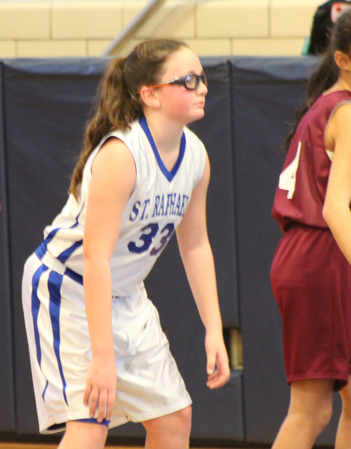 Sophia Lindquist held her own when St. Raphael was on defense against St. Barnabas.