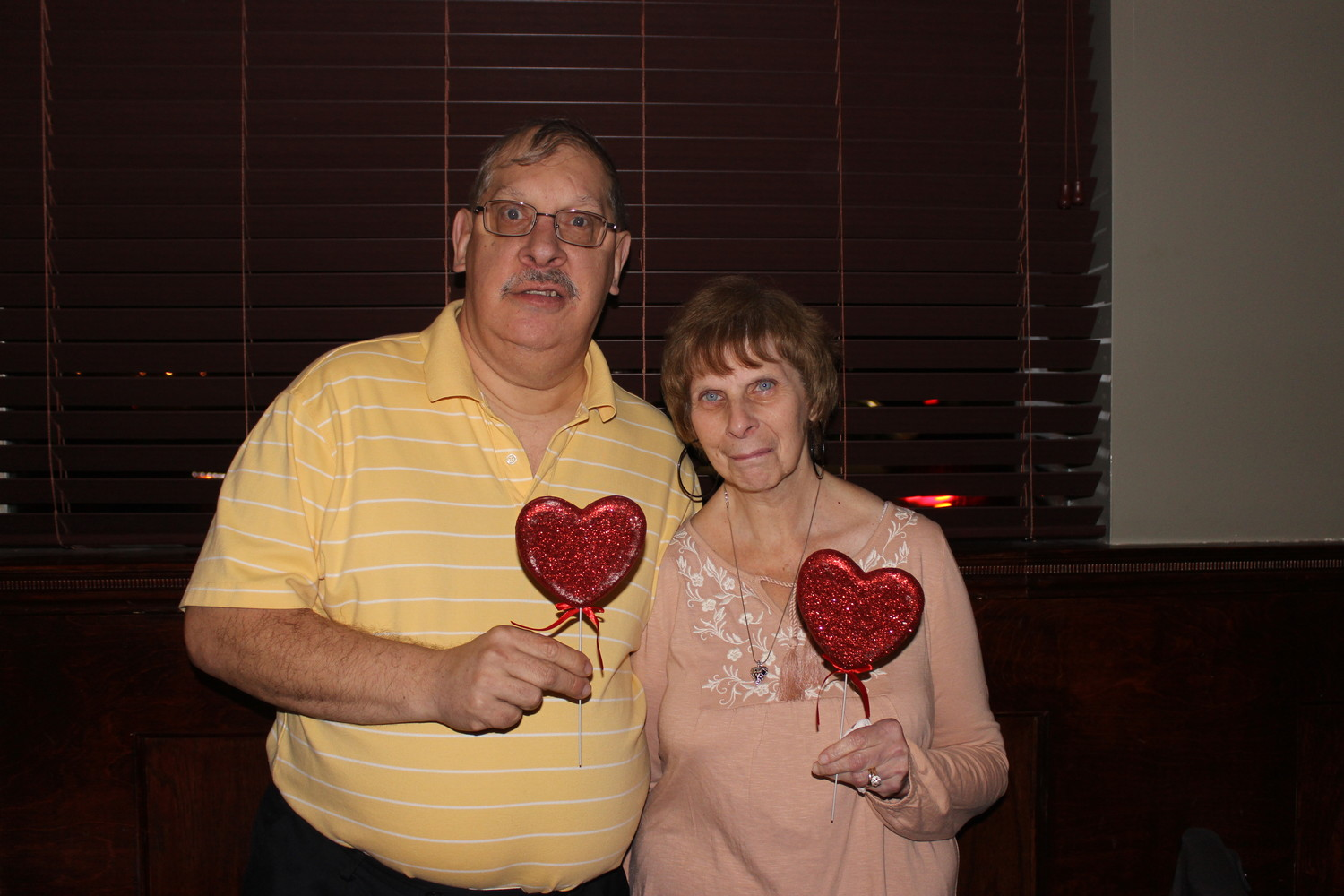 "Tim Amato, 59, and his wife Sharon, 53, both live in the AHRC Nassau's residential program in Rockville Center and attended its sixth annual ""Date Night"" at Borelli's on Feb. 7."