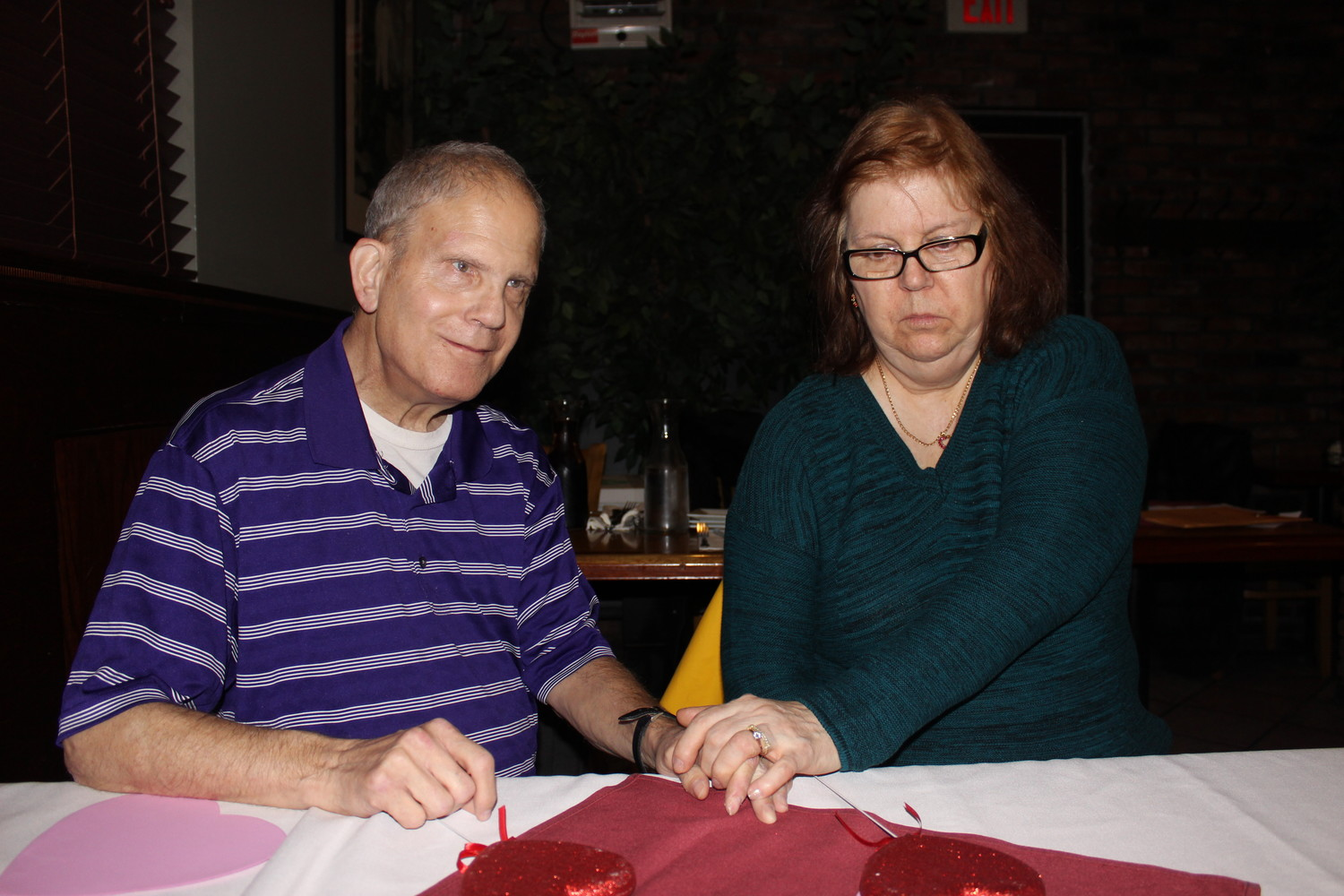 Jeffrey Witt, 70, and his wife Maryann, 68, of Rockville Center, have been together for 22 years.