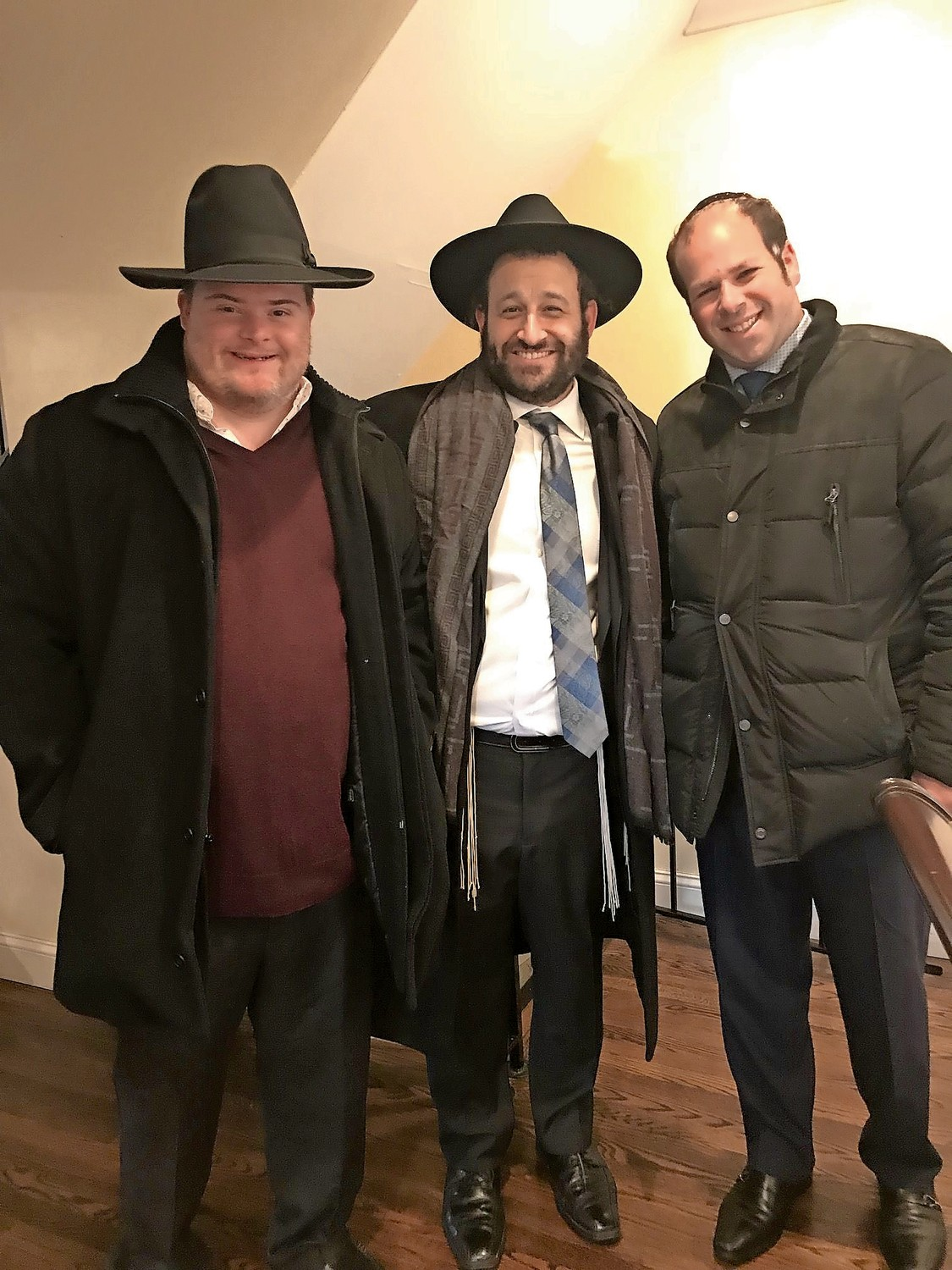 JJ Goldstein, Rabbi Duvie Zeidel and Jordan Scharf at Kulanu's weekend-long celebration of inclusion.
