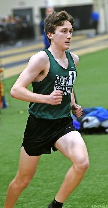 Seaford sophomore Jason Linzer captured the 1600 meter race at the Nassau Class B track and field championships on Feb. 7 to help the Vikings to a fourth-place finish.