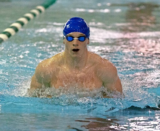 Senior Troy Morris was instrumental in Long Beach's county title performance with strong finishes in freestyle events and the first-place 200 free relay.