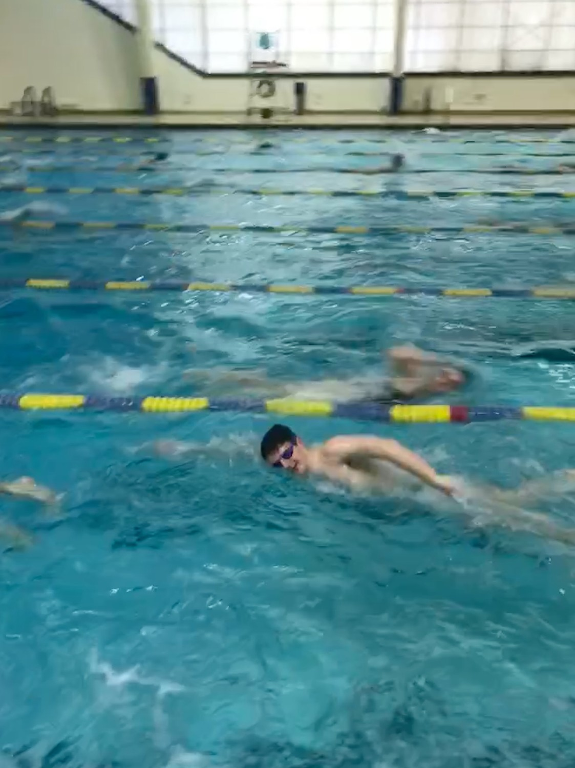 Kyle Bergin, a senior, has been swimming since he was 7, and was instrumental in urging the Lynbrook Board of Education to create a swim team three years ago.