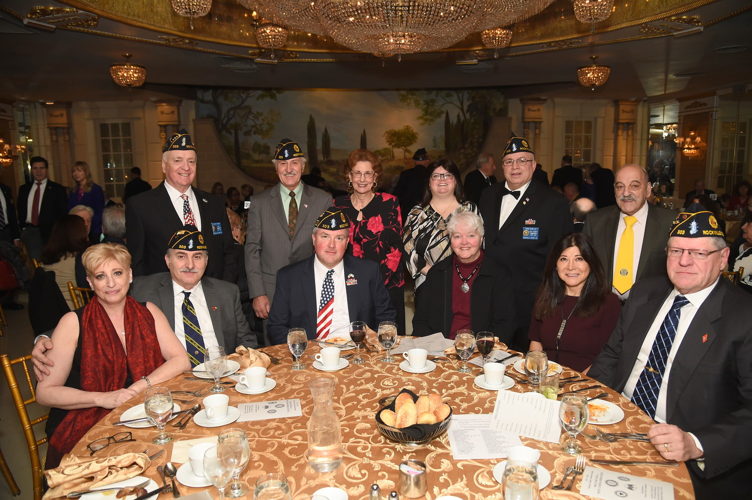 Members of the Rockville Centre American Legion Post 303 attended the event in Great Neck on Feb. 17.
