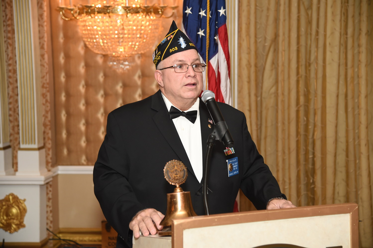 Frank Colon, commander of the village's American Legion Post 303, led the ceremony.