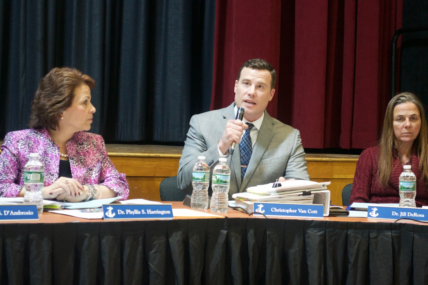 Christopher Van Cott, assistant superintendent of business, broke down the proposed 2018-19 budget at the first of three workshops on Feb. 7.