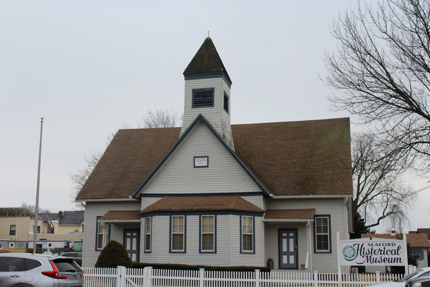 The Seaford Historical Society Museum, located on Waverly Avenue in Seaford, has undergone several renovations since 2006, but its bell tower has yet to be restored.