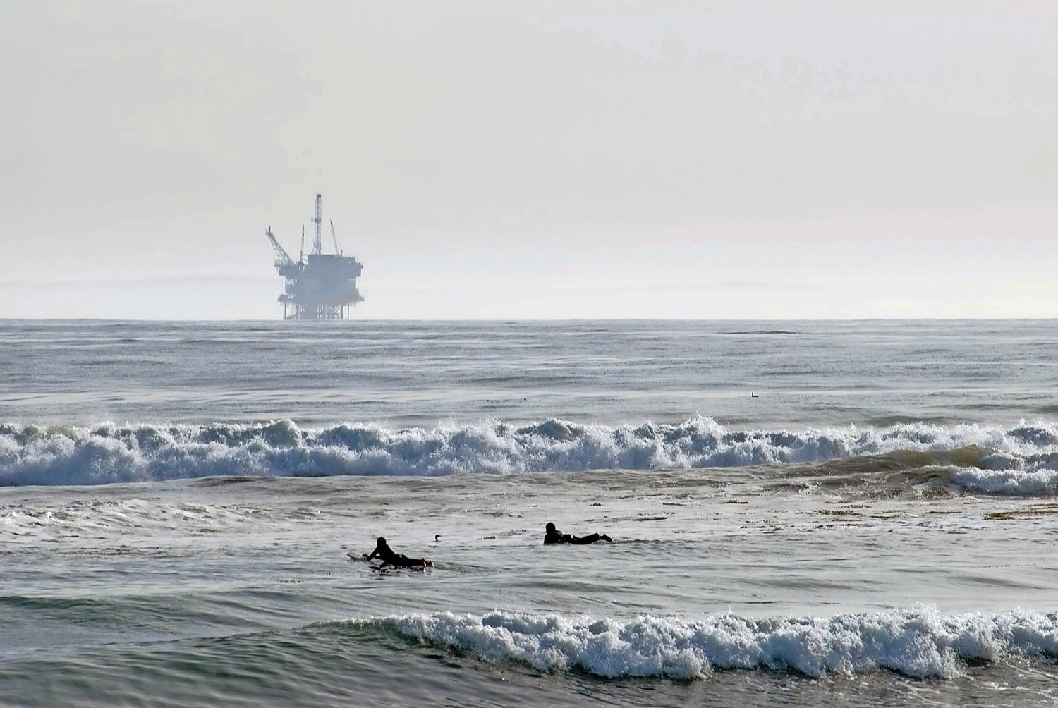 An oil drilling rig off of Santa Barbara, Calif. The Trump administration has proposed opening more than 90 percent of U.S. coastal waters to oil drilling.