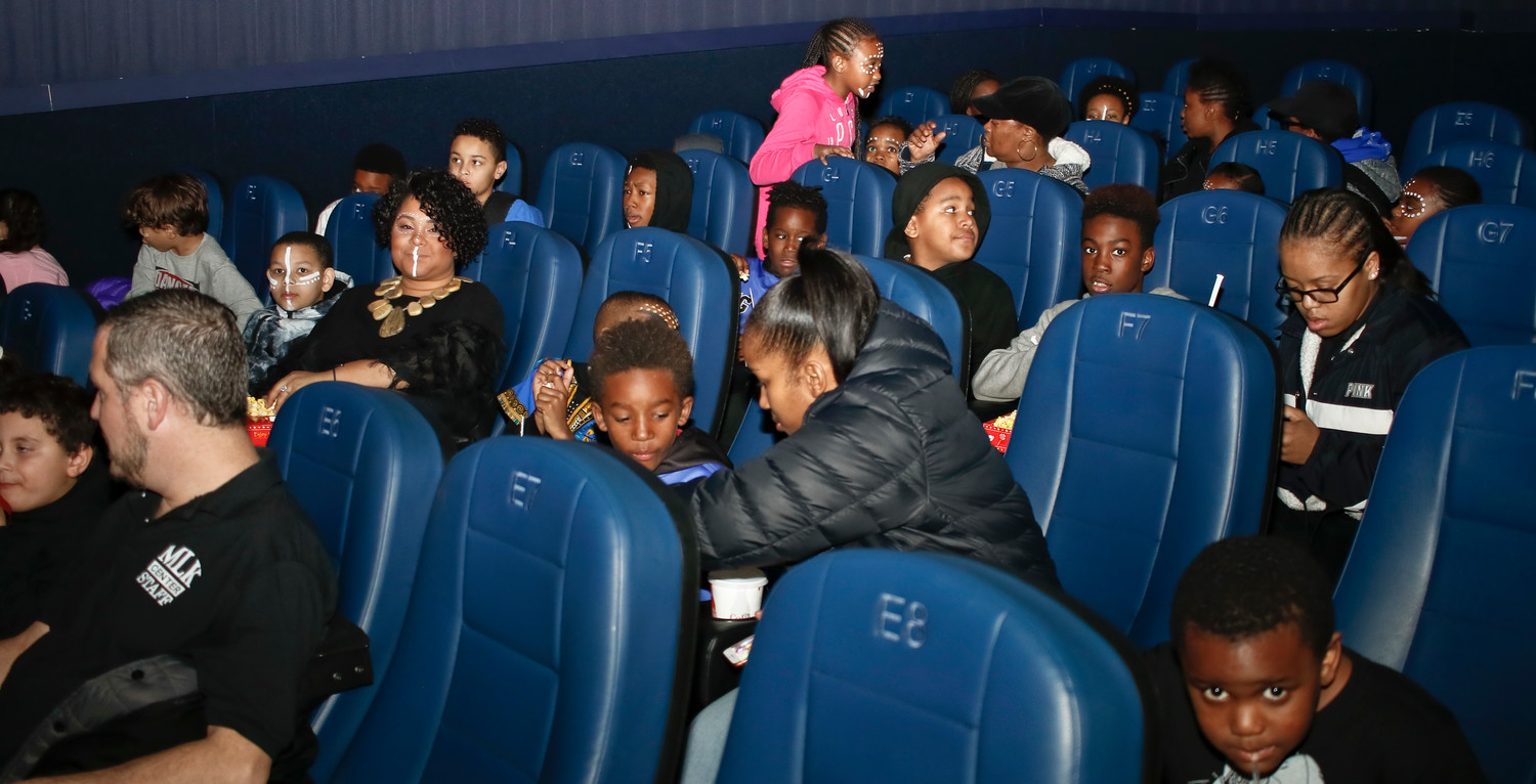 "The sold-out showing of ""Black Panther"" at the 127-seat theater was filled with kids and their chaperones from the MLK Center."