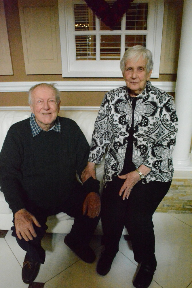 Robert and Audrey Bohnenberger, of East Meadow, have been married for 65 years, and have been coming to the Coral House's ceremony for more than a decade.