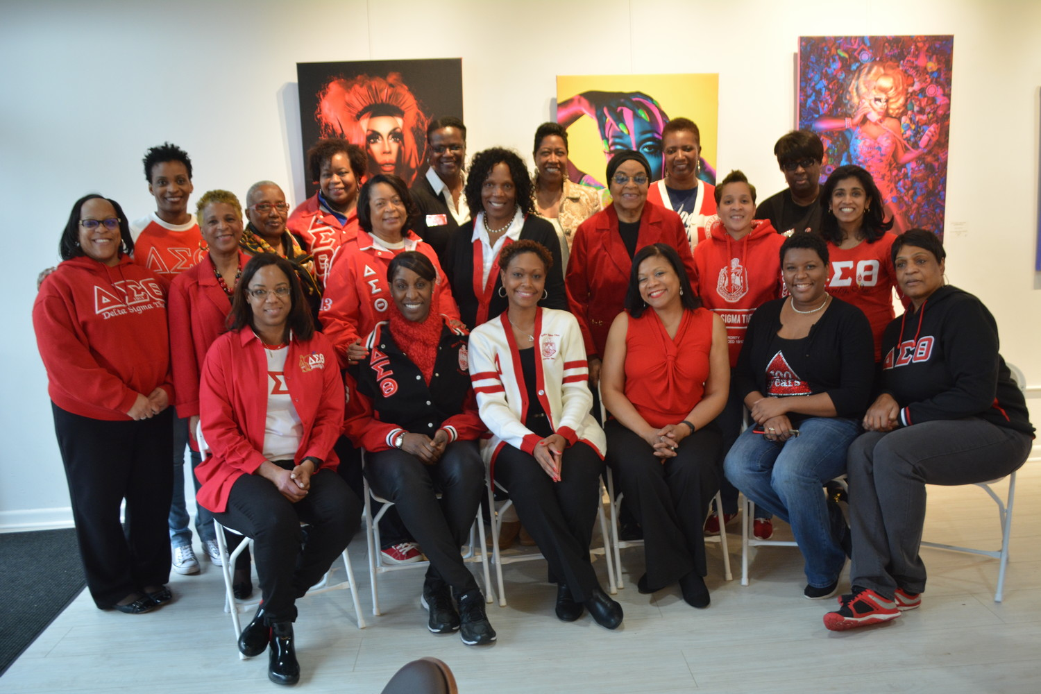 Members of the Nassau Alumnae Chapter of the Delta Sigma Theta sorority gathered to support Baldwin's local minority and women-owned businesses last Saturday.