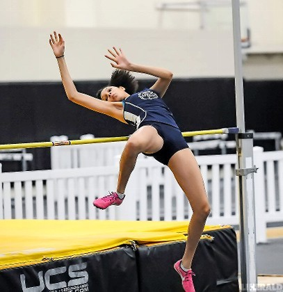 Junior Aniya Wilson won the high jump title while helping the Lady Bulldogs capture the Nassau Class B track and field championship.