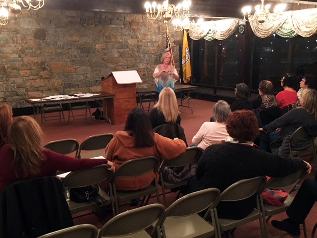 Claudia Borecky and the South Shore Women's Caucus discussed how they could address gun violence.