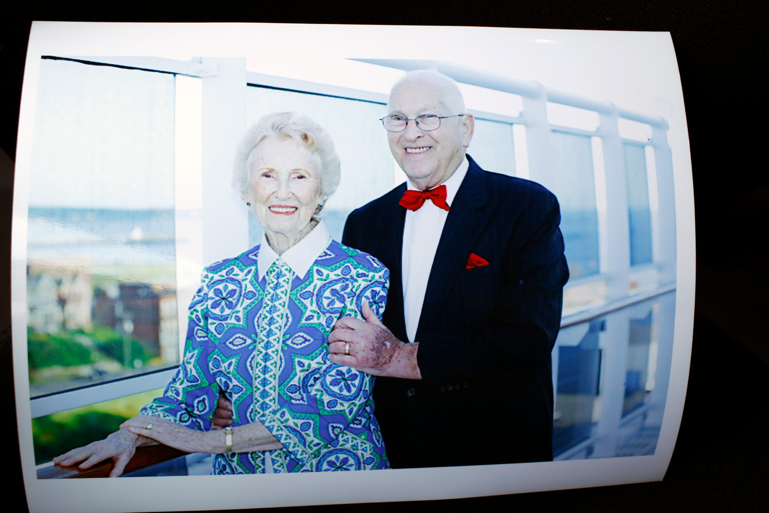 This photo of Medowar and his wife, Goldie, was taken on a cruise on which the Merokean celebrated his 80th birthday.