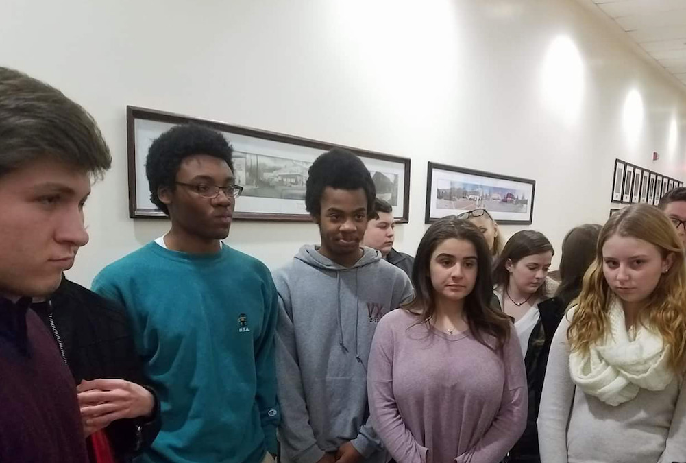 The student activists who are organizing the Glen Cove March for Our Lives include, from left, William Casale, Isaiah and Elijah James, Juliet Abbondanza and Kylie Jenkins.